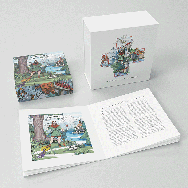 Discover the story of William Tell, the most popular Swiss hero, with VARSY'S Legends of Switzerland Puzzle.