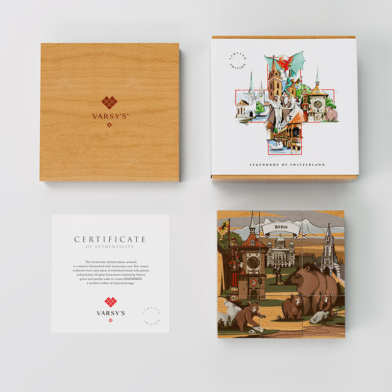 [:en]Discover the history of Bern as well as 5 other Swiss legends with VARSY'S Legendbox Limited Edition.[:de]Entdecken Sie die Geschichte von Bern und 5 andere Schweizer Sagen mit VARSY'S Legendenbox Limited Edition.[:]