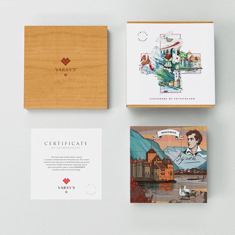 [:en]VARSY'S Legends of Switzerland puzzle tells the story of Montreux, the story of Chateau Chillon and Lord Byron.[:de]VARSY'S Puzzle Schweizer Legenden erzählt die Geschichte von Montreux, die Legende von Chateau Chillon und Lord Byron.[:]