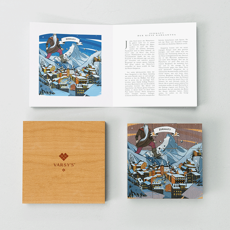 Discover the story of the Matterhorn and 5 other Swiss legends with VARSY'S Legendbox Limited Edition.