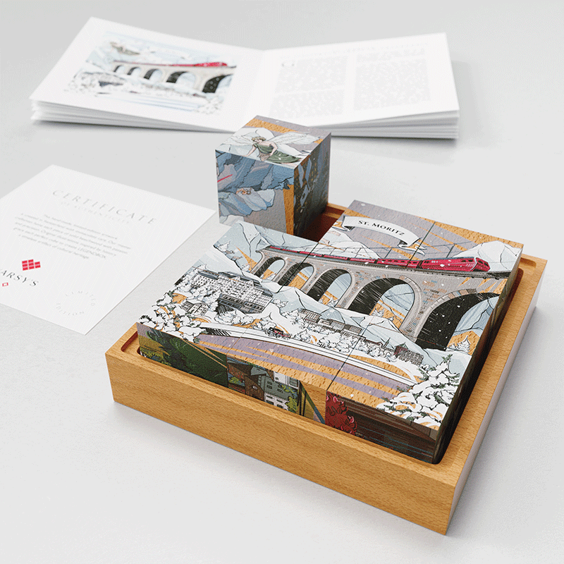 VARSY'S Legendbox tells 6 Swiss legends. In Set 2 you can discover the story of St. Moritz and the many languages of Grison.