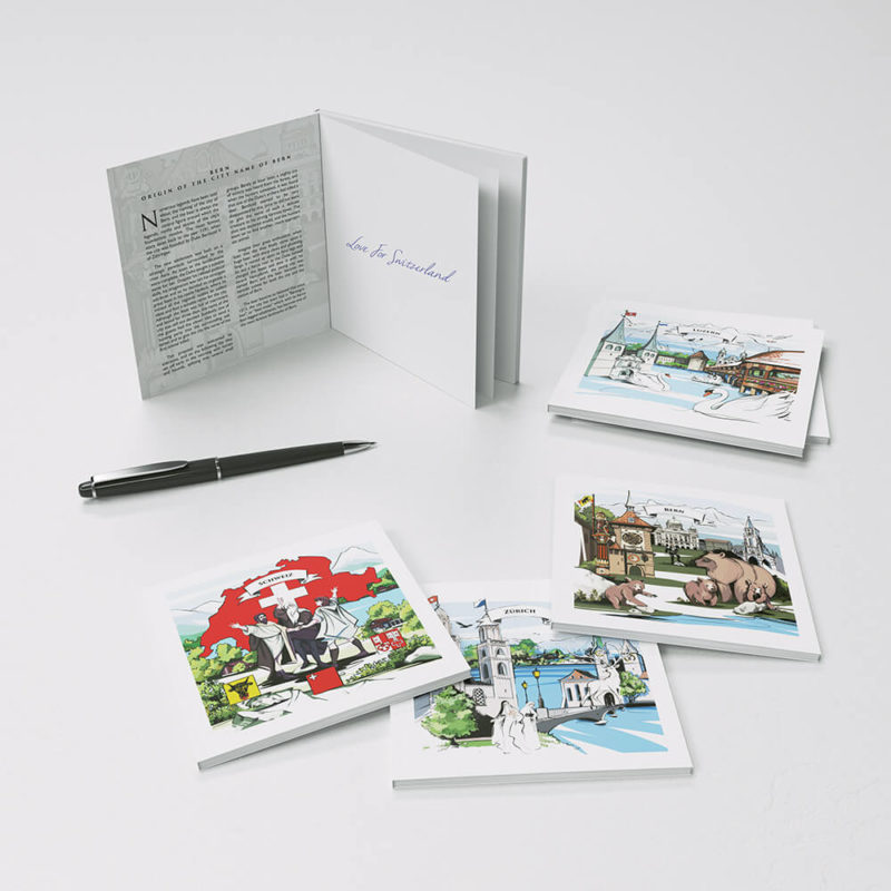 Swiss souvenir notebooks with illustration and Swiss legend - the perfect Swiss gift