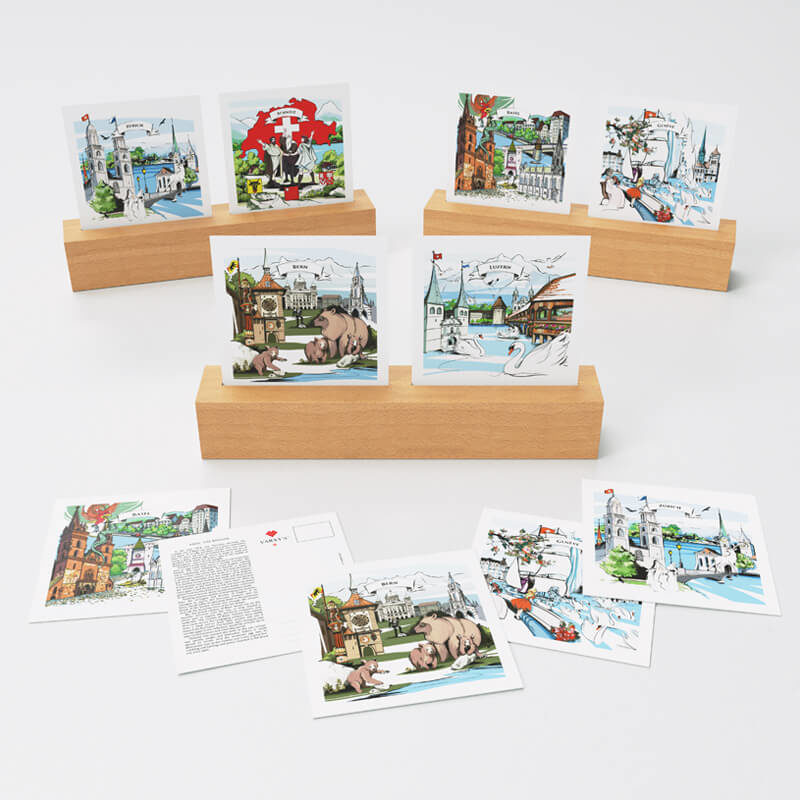 All of VARSY'S Swiss-made postcards are the perfect Swiss souvenir.
