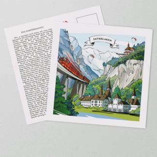 [:en]Swiss-made Interlaken postcards display a Swiss artwork on the coated front of the card.[:][:de]VARSY'S Legendäre Interlaken Postkarten zeigen ein Schweizer Kunstwerk auf der beschichteten Vorderseite der Karte.[:]