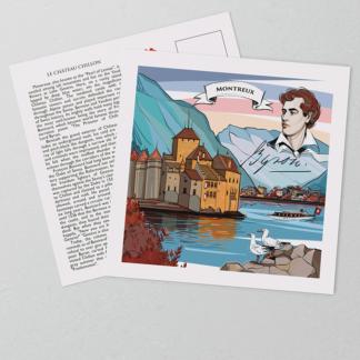 [:en]Swiss-made Montreux postcards have a coated front, that protects the hand-painted artwork.[:][:de]In der Schweiz hergestellte Montreux Postkarten haben eine beschichtete Vorderseite, die die Schweizer Legende von Chateau Chillon zeigt[:]