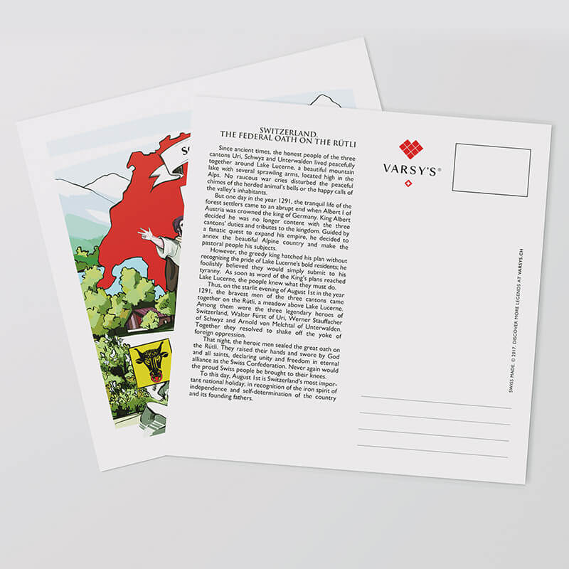 Share Swiss culture with VARSY'S Switzerland postcards!