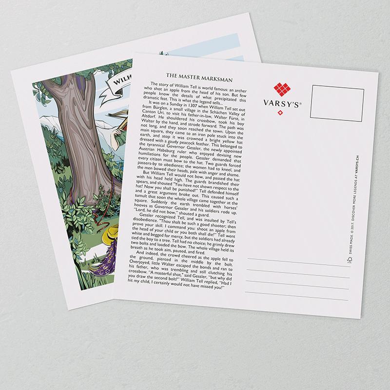 [:en]William Tell postcards: Learn about the Swiss legend William Tell.[:][:de]Wilhelm Tell Postkarten: Erfahren Sie die Geschichte von Wilhelm Tell, dem bekanntesten Schweizer Helden überhaupt.[:]