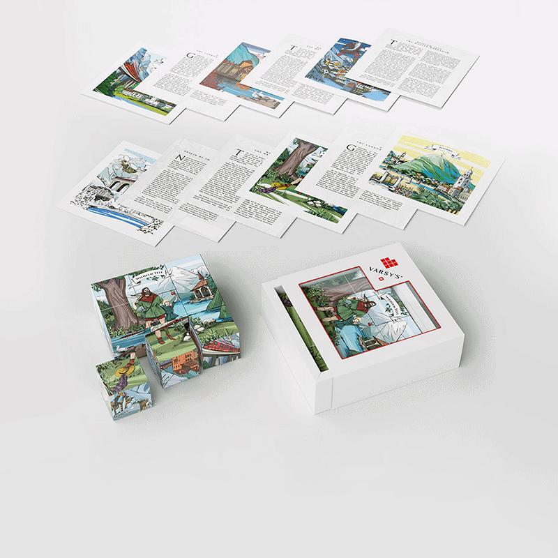 [:en]VARSY'S legendbox Select - Set including 9 wood cubes and 6 cards with Swiss heroes like William Tell and other legends from Switzerland.[:de]VARSY'S Legendenbox Select - Set mit 9 Holzwürfeln und 6 Karten mit den Geschichten Schweizer Helden wie Wilhelm Tell und anderen Legenden aus der Schweiz.[:]