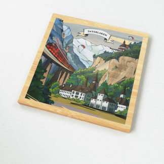 The illustration on VARSY'S Magnets Switzerland show the grim face of the Hardermannli of Interlaken.