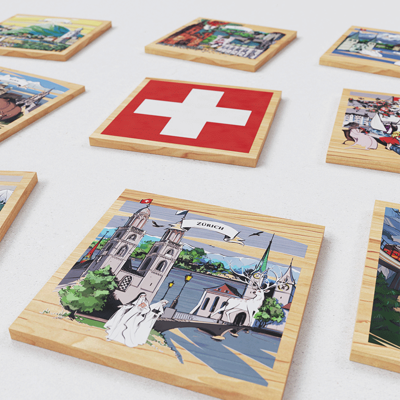 VARSY'S Magnets Switzerland - Close-up of the entire collection