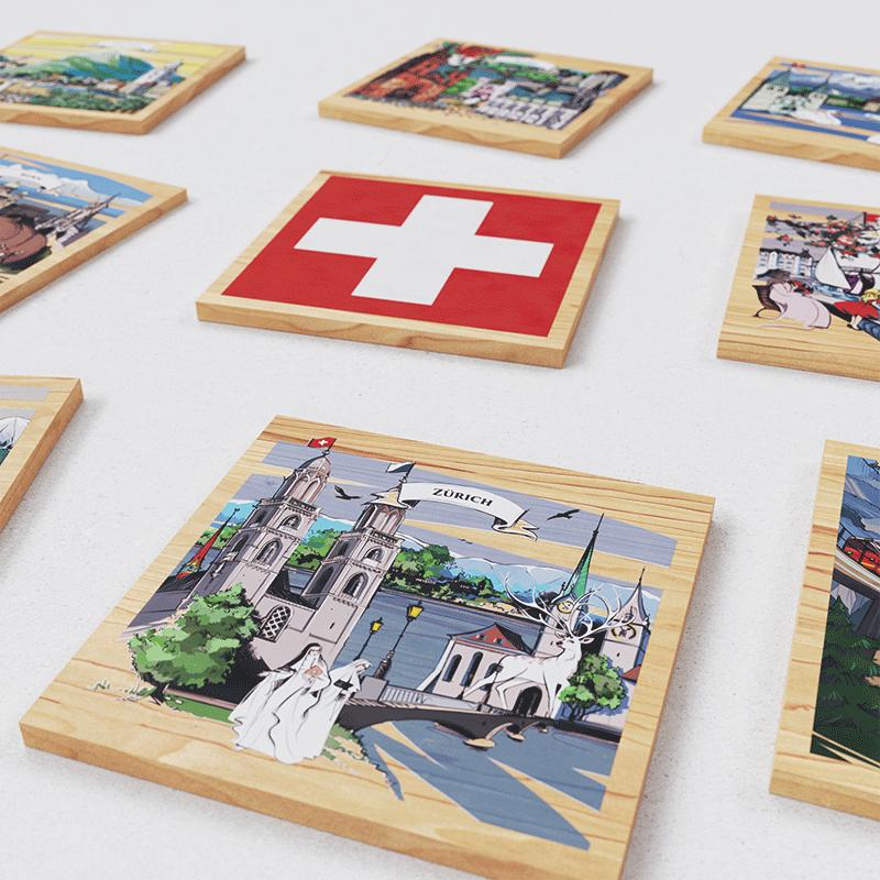 VARSY'S Magnete Schweiz - Nahaufnahme der gesamten Kollektion